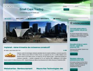 smallcapstrading.fr screenshot