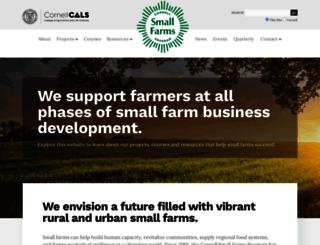 smallfarms.cornell.edu screenshot