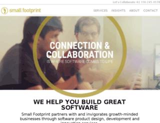 smallfootprint.hs-sites.com screenshot