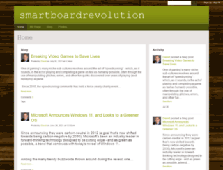 smartboardrevolution.ning.com screenshot