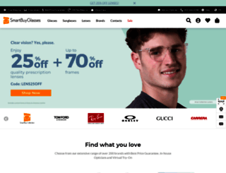 smartbuyglasses.ca screenshot