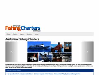 smarterfishingcharters.com.au screenshot