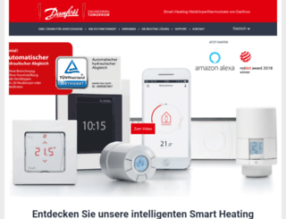 smartliving.danfoss.de screenshot