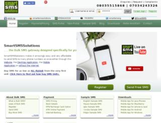 smartsmssolutions.net screenshot