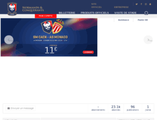 smcaen-boutique.fr screenshot