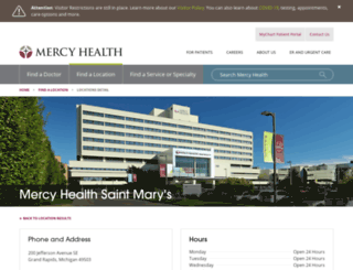 smhealthcare.org screenshot
