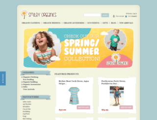 smileyorganics.com.au screenshot