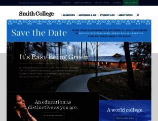 smith.edu screenshot