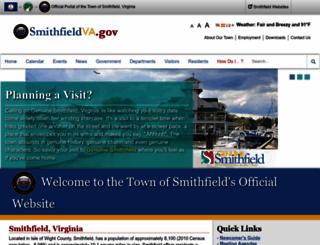 smithfieldva.gov screenshot
