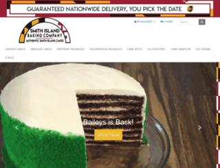 smithislandcake.com screenshot