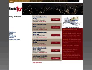 smithstix.flashseats.com screenshot
