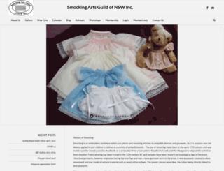smockingguildnsw.com screenshot