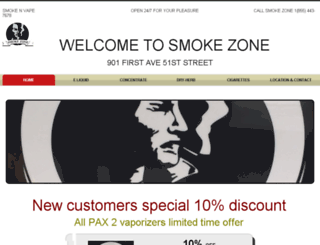 smokezonenyc.com screenshot