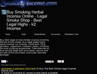 smokingincense.com screenshot