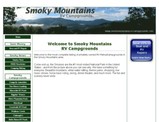 smokymountains-rv-campgrounds.com screenshot