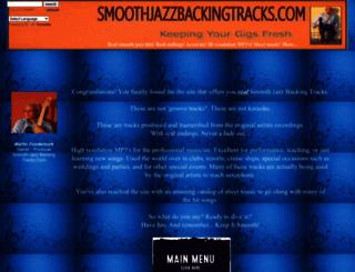 smoothjazzbackingtracks.com screenshot