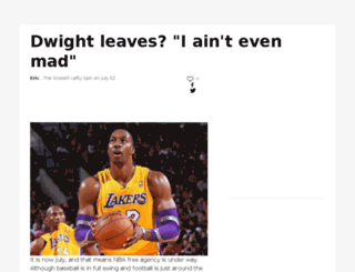 smoothleftycoverage.sportsblog.com screenshot