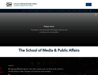 smpa.gwu.edu screenshot