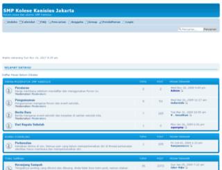 smpkanisius.friendhood.net screenshot