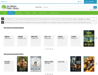 smplibrary.bibliocommons.com screenshot