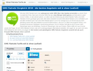 sms-flatrate.de screenshot