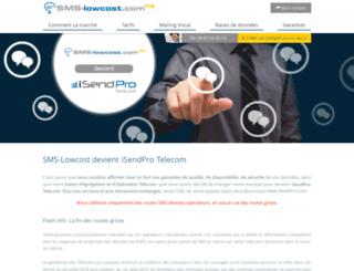 sms-lowcost.com screenshot