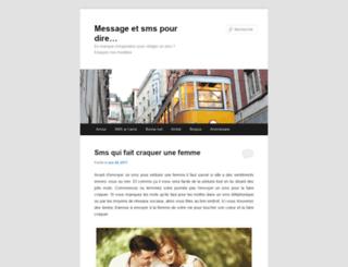 sms-pour-dire.blogspot.ca screenshot