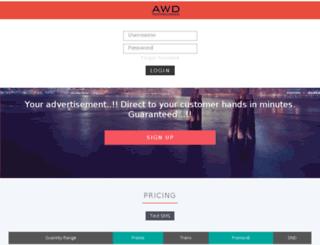 sms.awdtechnologies.com screenshot