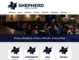 sms.shepherdisd.net screenshot