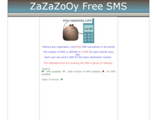 sms.zazazooy.com screenshot