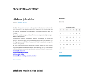 smshipmanagement.wordpress.com screenshot