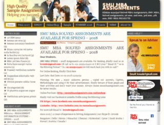 smumbaassignment.com screenshot