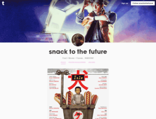 snacktothefuture.tumblr.com screenshot