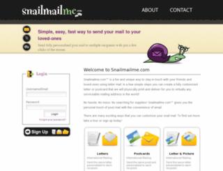 snailmailme.com screenshot