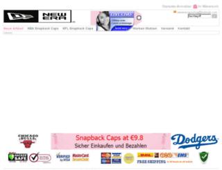 snapbackcapshop.de screenshot
