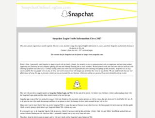snapchatonlineloginn.com screenshot