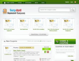 snapdeal-coupons.com screenshot