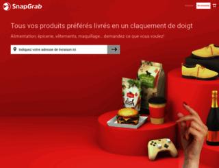 snapgrabdelivery.com screenshot