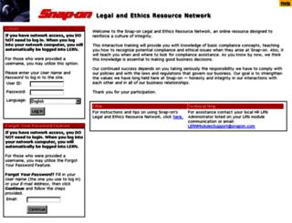 snapon-lcec.lrn.com screenshot