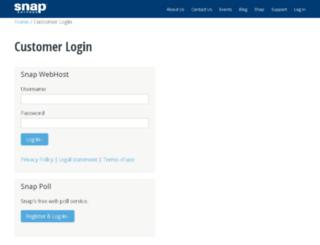 snaponline.snapsurveys.com screenshot