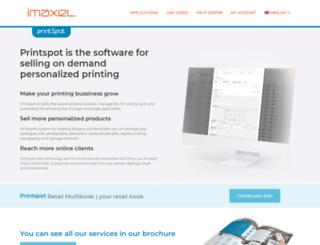 snapprintweb.imaxel.com screenshot