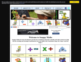 snappymaths.com screenshot