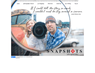 snapshotsofagoodlife.com screenshot