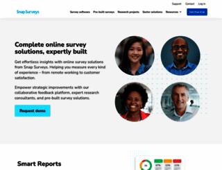 snapsurveys.com screenshot