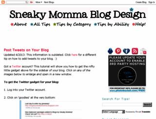sneakymommablogdesign.blogspot.com screenshot