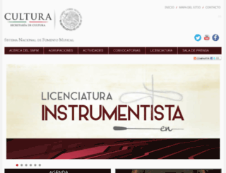 snfm.conaculta.gob.mx screenshot