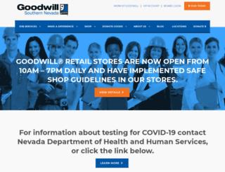 sngoodwill.org screenshot