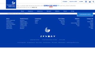 snhp.gsu.edu screenshot