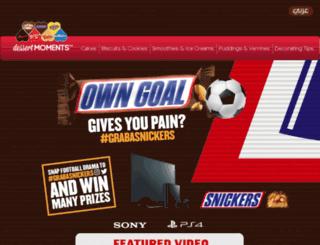 snickers.dessertmoments.com screenshot