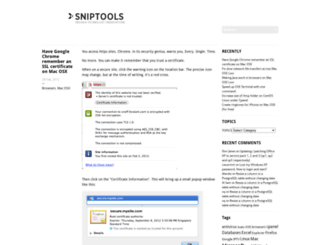 sniptools.com screenshot